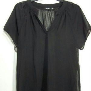 Tops - Ladies Sheer short sleeved top